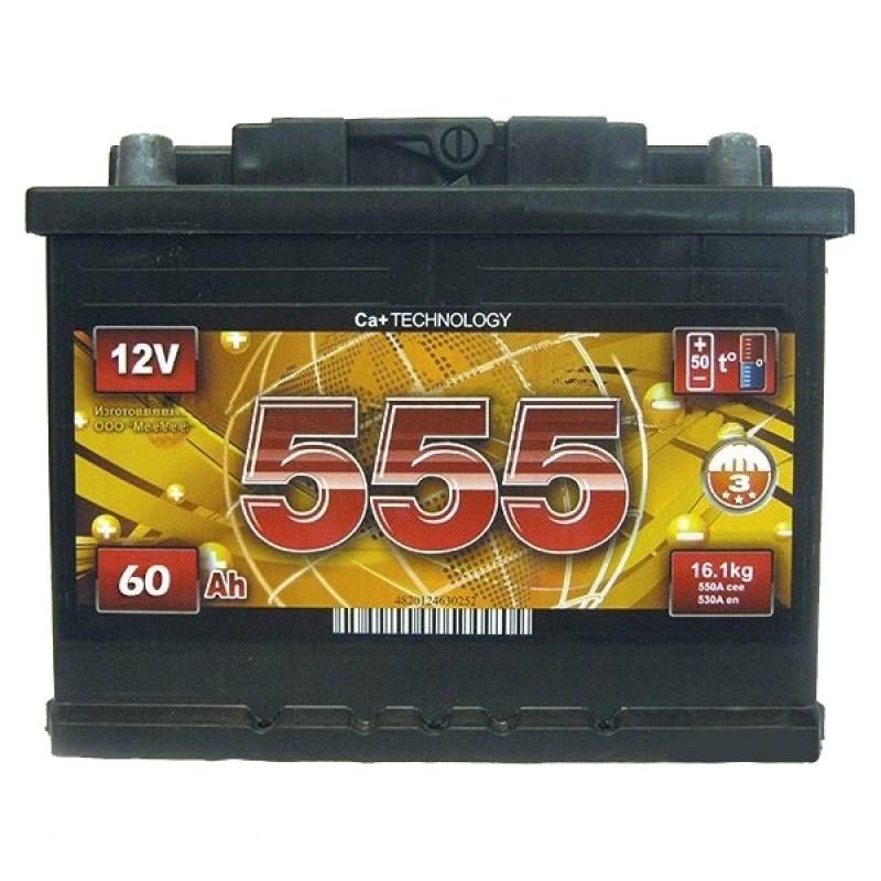 Акумулятор 555 60Ah L 600A