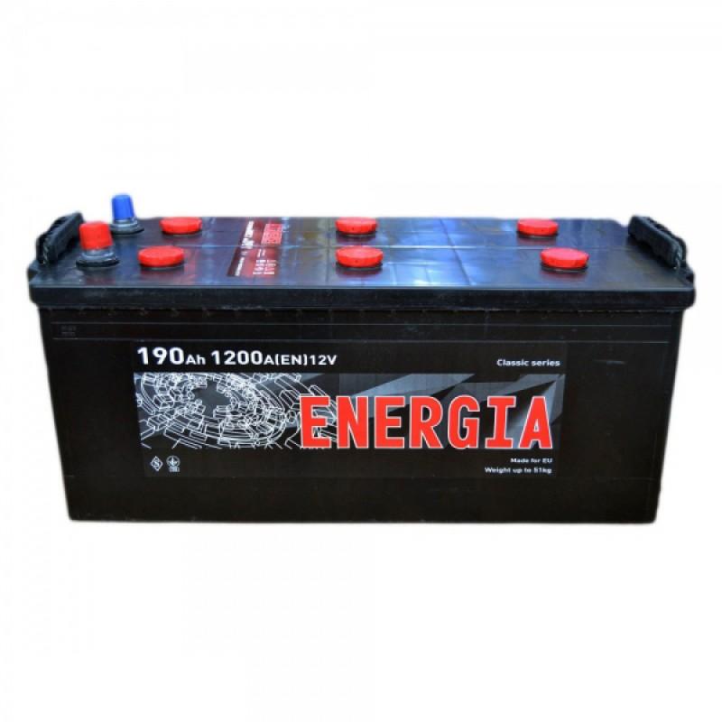 Акумулятор ENERGIA 190Ah R 1200A