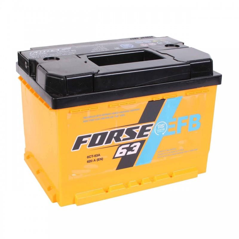 Акумулятор FORSE EFB 63Ah R 620A