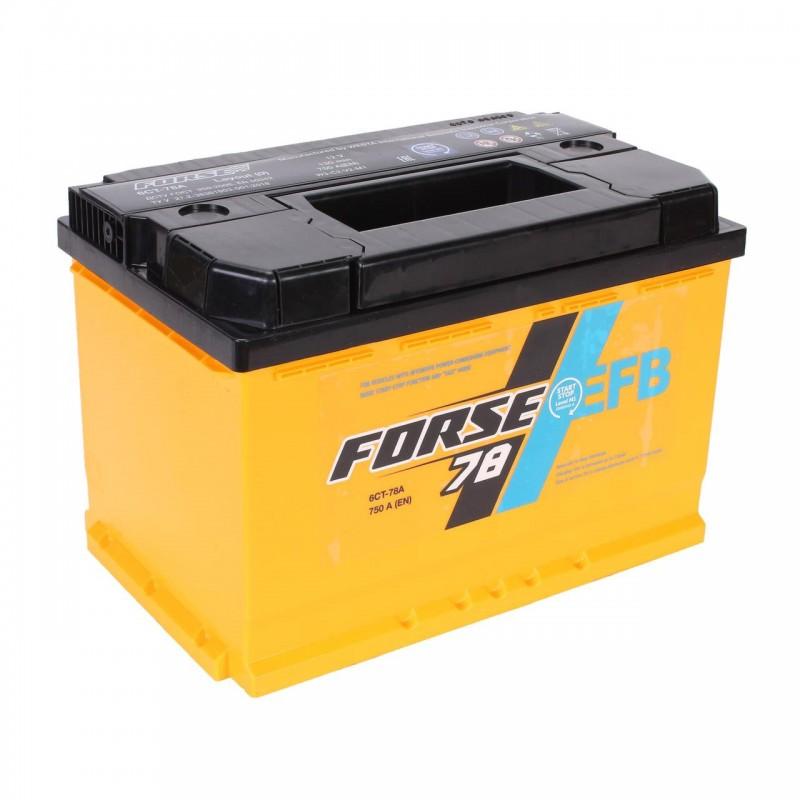 Акумулятор FORSE EFB 78Ah R 750A