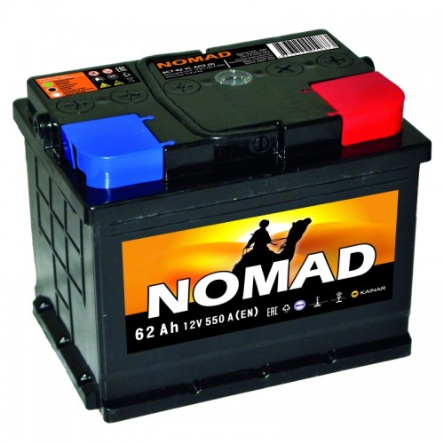 Акумулятор NOMAD PREMIUM 62Ah L 620A