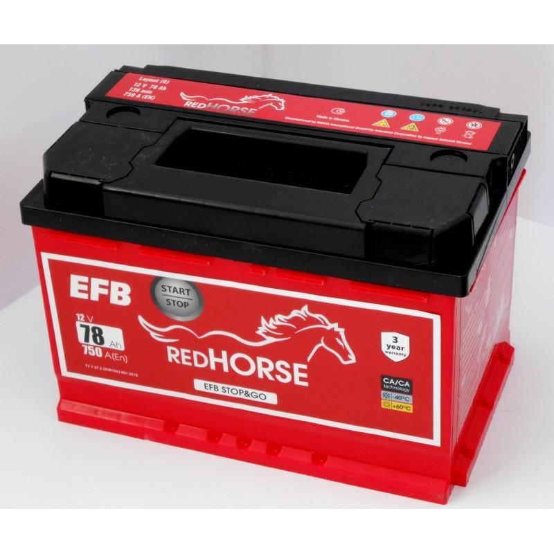 Акумулятор Red Horse EFB 78Ah R 750A